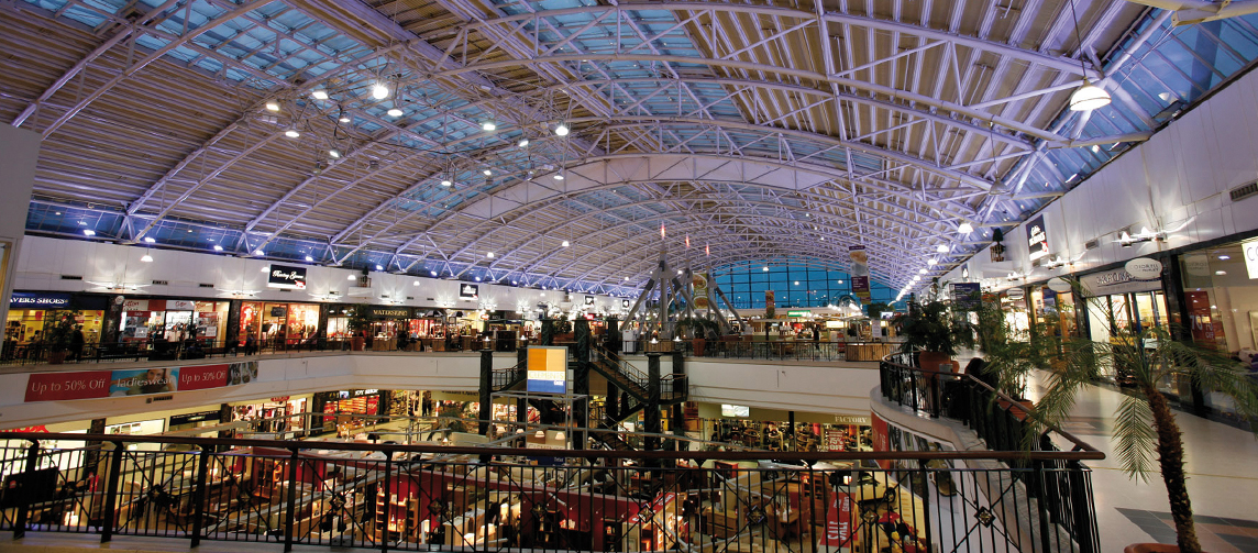 Clothing stores in the galleria mall